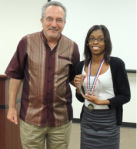 Dr. Peter Guarnaccia and Imani Baker