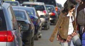 pedestrian in traffic