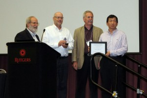 Shiseido America Inc. Receiving the Sustainable Business Award