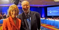 Dr. Carl Van Horn with Judy Woodruff of PBS NewsHour. Photo by Kathy Krepcio.