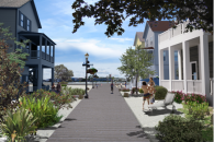 Hypothetical scene based on a typical street, which elicited a strongly positive response from residents of a New Jersey coastal community.