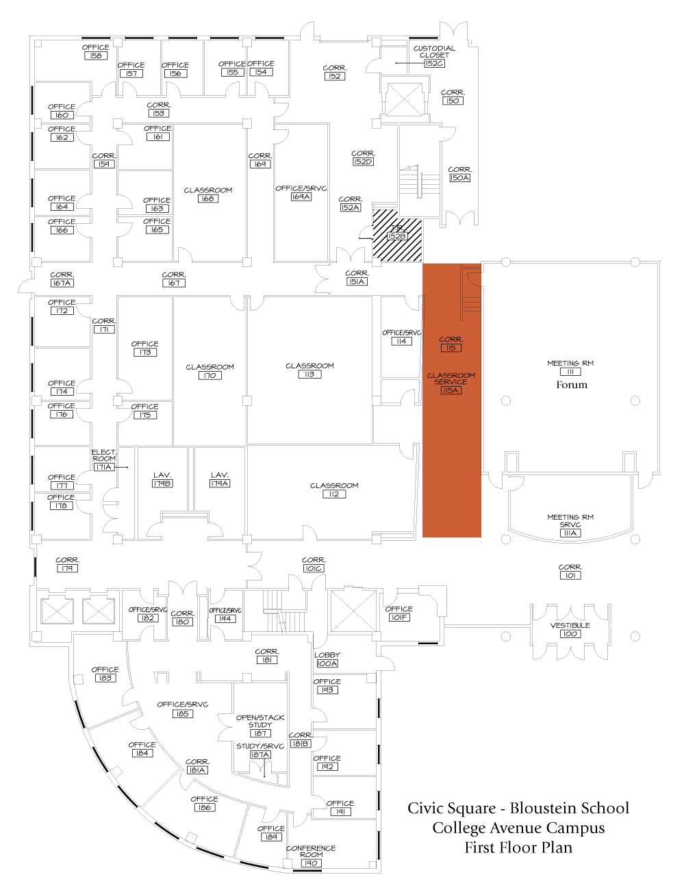 event and facilities management edward j bloustein school of  lobby lobbymap