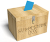 suggestion box blue