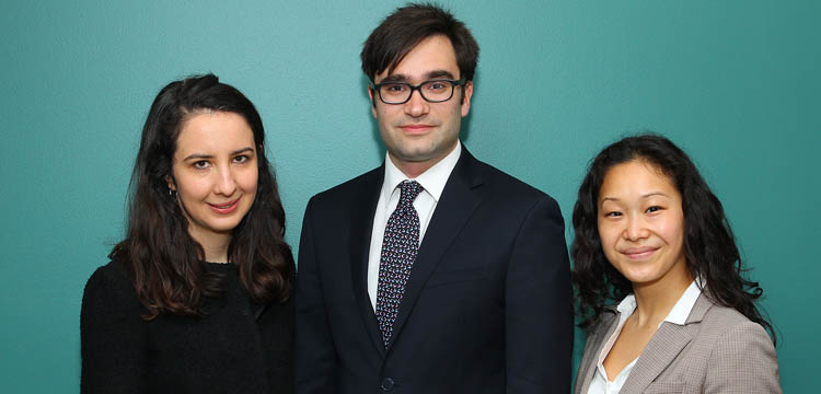 Bloustein School MCRP students (from left to right) Julene Paul, Channing Bickford, and Ai Yamanaka were selected as 2016 Presidential Management Fellows.
