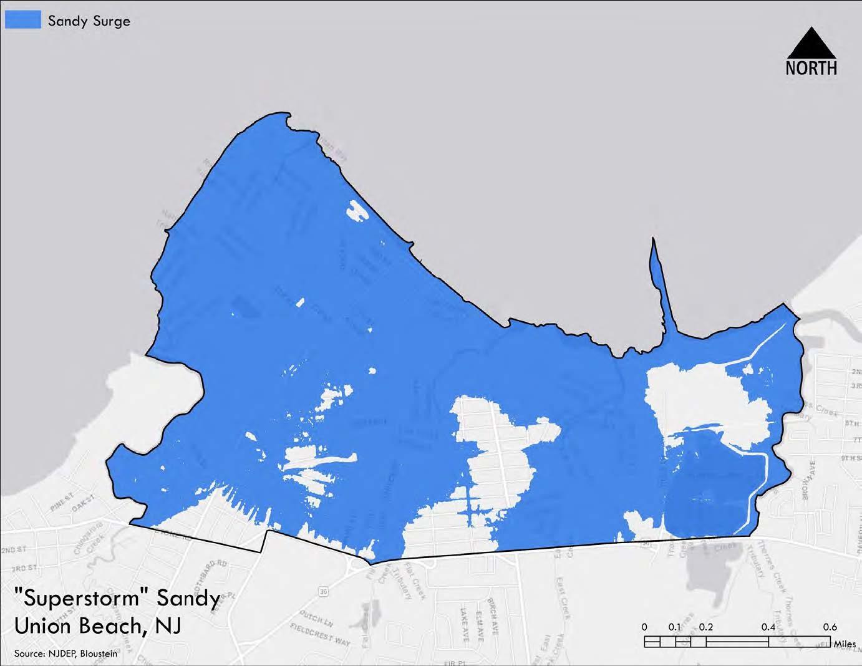 Map of Superstorm Sandy surge