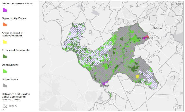 Delaware Raritan Map